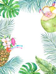 Bright tropical frame