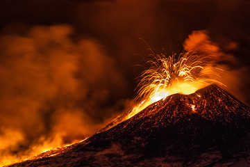 Acrylic Prints Volcano Etna eruption - Catania, Sicily