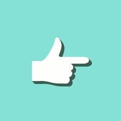 Hand - vector icon.