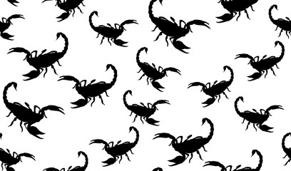 Vector seamless pattern of Scorpion