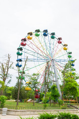 The Ferris wheel is a big attraction in the summer