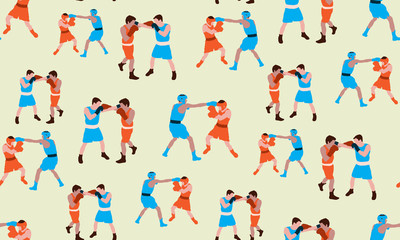 Vector seamless background of Boxing