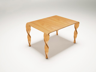 a table in the room,3d