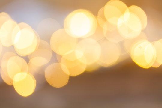 christmas pale yellow lights bokeh defocused background