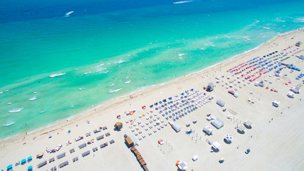 Miami Beach Aerial view. South Beach. Florida.