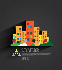 Vector of city skyline