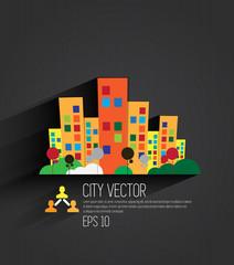 Vector of city skyline