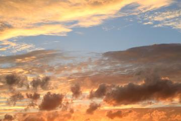Cloud sky at sunset.