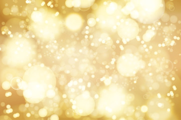 Vector golden bokeh background. abstract defocused bright lights