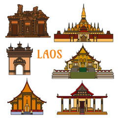 Historic buildings and sightseeings of Laos