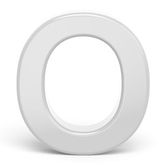 3D rendering white letter O