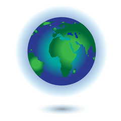 Vector planet Earth icon. Flat planet Earth icon. Flat design vector illustration for web banner...