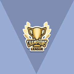 Champion sports league logo emblem badge