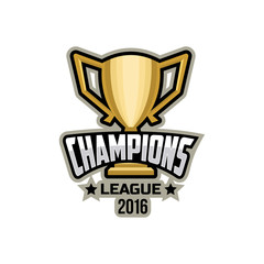 Champions sports league logo emblem