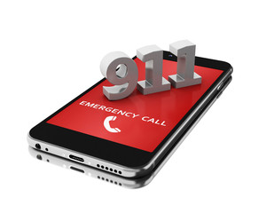 3d Smartphone with emergency call.