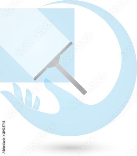 fenster putzen hand reinigung reinigungsfirma stock image and royalty free vector files on. Black Bedroom Furniture Sets. Home Design Ideas