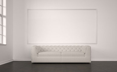 emty room with modern sofa
