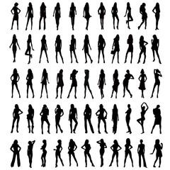 People silhouette big set