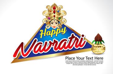 happy navratri celebration background