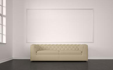 emty living room with sofa