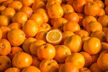 Oranges for sale at Queen Victoria Market in Melbourne, Australia