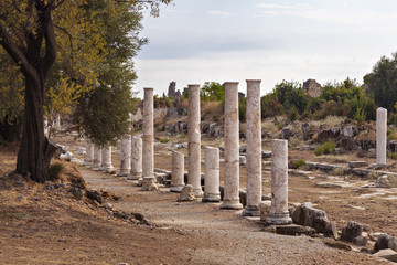 Ancient Side colonnaded street