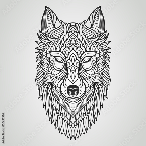 Abstract Wolf Hand Draw Stock Image And Royalty Free Vector