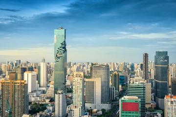 Business downtown of Bangkok city, Bangkok city of Thailand on t