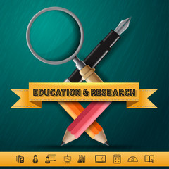 Education and Research concept infographic Design