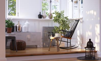 Leseecke in Altbau Wohnung Erker - reading corner in Loft Apartm
