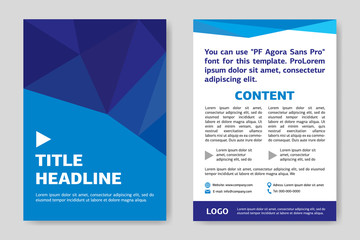 Template flyer design. Business cover and back side. Creative graphic illustration. Concept of brochure, card or magazine.