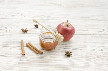 Honey with apple and spices