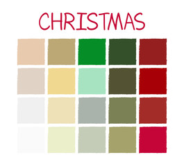 Christmas Classic Tone Colors. Palette Scheme Vintage Colors. without Code. Vector Illustration