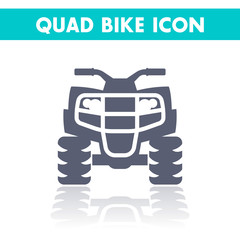 quad bike icon, all terrain vehicle, atv, quadricycle vector illustration