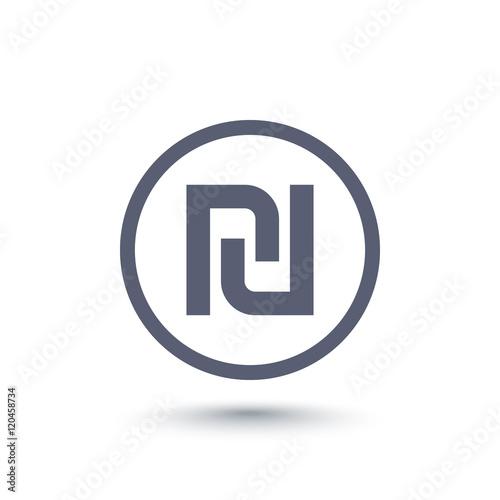 Shekel Symbol Israeli Money Sign Stock Image And Royalty Free