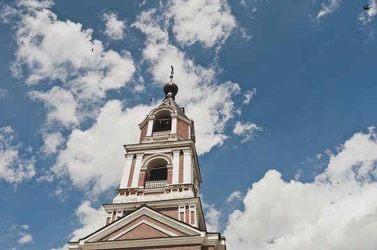 The bell tower of a rural Church 6685.