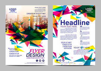 Modern colorful Brochure Layout design template. Annual Report Flyer Leaflet cover Presentation Modern background. illustration vector in A4 size