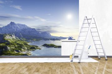 photo mural nature scenery