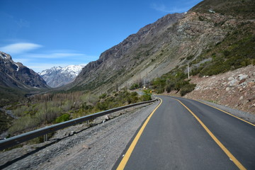 landscape of mountains and canyons in Chile