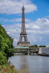 Eiffel Tower in Paris with Seine, France
