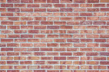 Red brick wall grunge texture.