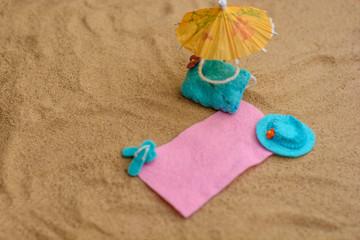 Miniature toy homemade beach