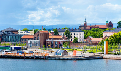 Buildings at the waterfront in Oslo
