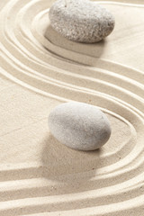 Photo sur Plexiglas Zen pierres a sable japanese garden zen stone