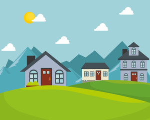 real estate house isolated design vector illustration eps 10