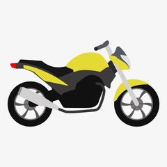 Motorcycle icon or sign. Bike Vector illustration