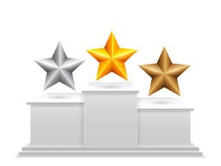 Award Stars on Podium