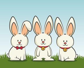 cartoon icon rabbit design isolated vector illustration eps 10