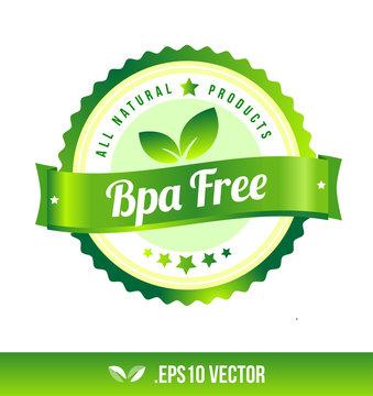 Bpa free badge label seal