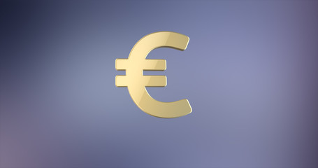 Euro sign Gold 3d Icon